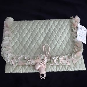 Lingerie Bag light mint green & light blush pink